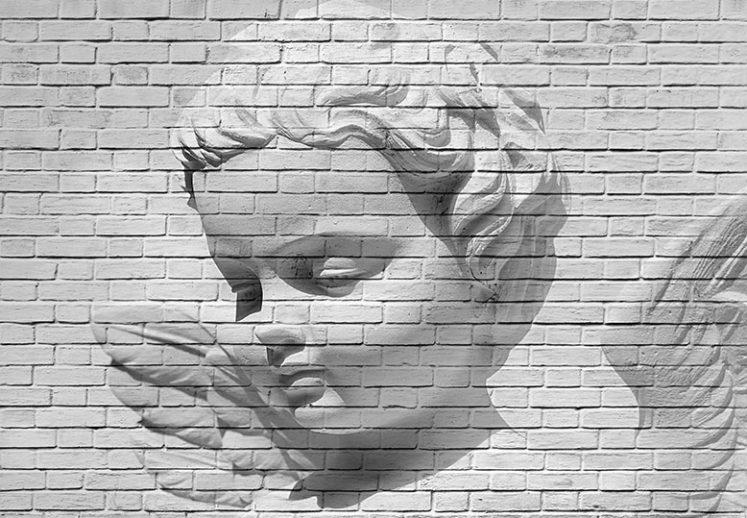 Fototapet Angel Brick Wall