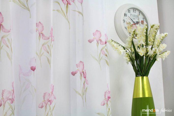 Material Perdea Judie, roz 280cm