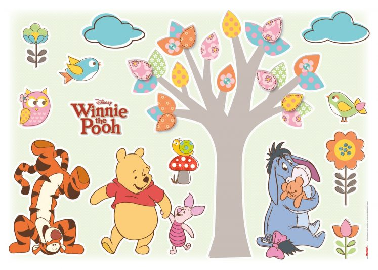 Sticker Winnie The Pooh Nature Lovers