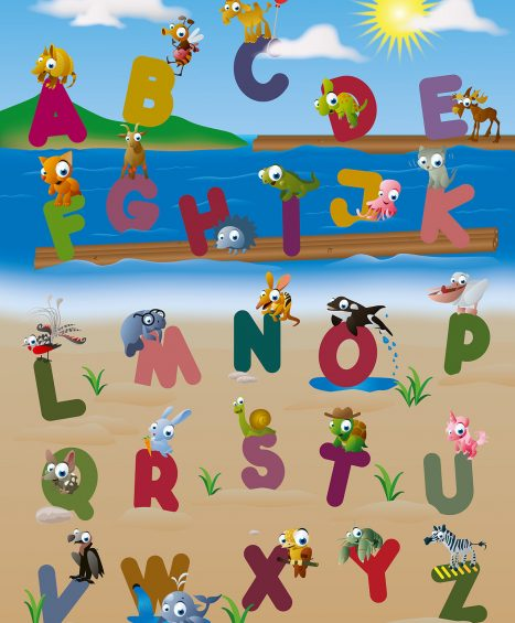 Fototapet Animal Alphabet