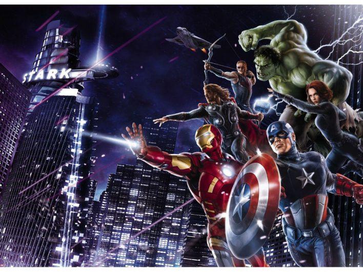 Fototapet Avengers Citynight